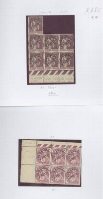France 1920/1980 - lot of pre-cancelled stamps - Yvert 26/169 with missing