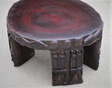 Hand carved One Of A Kind Mahogany Stump Side Table