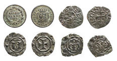 Italian Mints - Manfredonia, Messina, Milan, Siena. Lot of 4 coins in Ae (bronze) and  Mi (mixed metals)