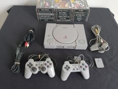 Sony Playstation 1 (PS1) with 18 games like Grand Theft Auto (GTA)