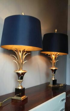 Boulanger Reed - A Pair table lamps.