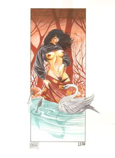 Fortunato, Alessio - original illustration 'Leda' (2003)