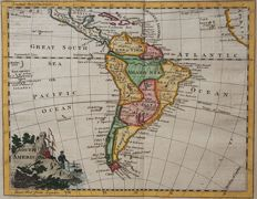 South America; William Guthrie / Thomas Kitchin - South America - 1770