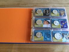 The Netherlands - 5 euro and 10 euro 2002/2017 (35 coins) on coin cards
