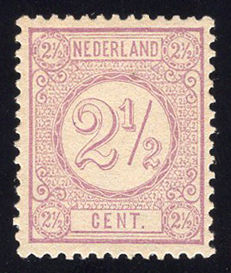 The Netherlands 1876 - Numeral stamp - NVPH 33, with certificate