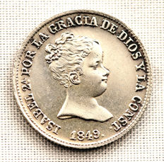 Spain - Isabel II - 1 real silver coin - 1849 - Madrid