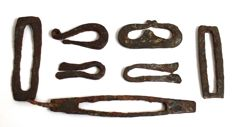 7 Early medieval iron fire lighters - 45 mm - 132 mm (7)