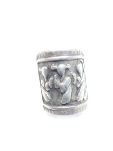 1900-1909 Silver Chinese Mythology Repousse Folklore ring in Chinese silver ring. Unique and Rare