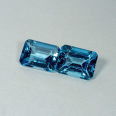 Pair of Swiss Blue Topaz - 5.26 ct