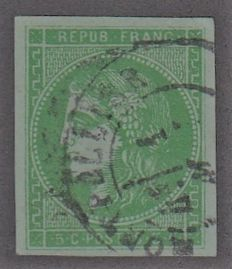 France 1870 - 5c green shade to be examined  - Yvert n 42B