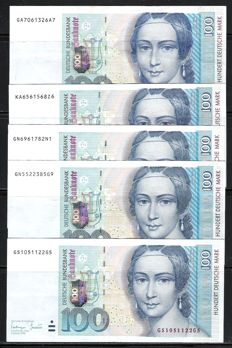 Germany - 5 x 100 DM 1996 - Pick 46