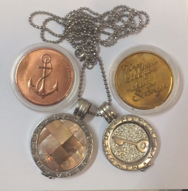 Two mi moneda pendants on necklace 80 cm long with four coins 925 two mi moneda pendants on necklace 80 cm long with four coins 925 aloadofball Gallery