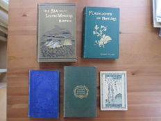 Four English language books about natural history and nature - 1859/1899