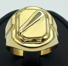 14 Ct Yellow Gold Men's Ring,  size:19.50mm, Total 3.85 gr