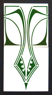Boizenburg - Two Art Nouveau Tiles with continuous pattern
