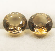 2 (pair) topazes– 17,81 ct  total