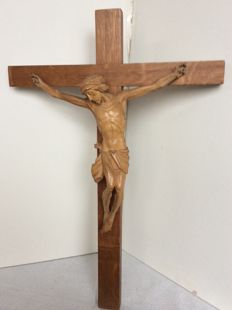 Antique wooden cross, 50 cm long, 1st half of the 20th century