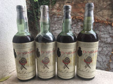 x4 Old Sherry Brandy Spain - Fundador Double Label Edition 1950s Sealed with Lead - Pedro Domecq