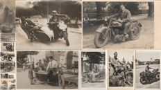 MOTORCYCLES - Lot of 18 photos and postcards