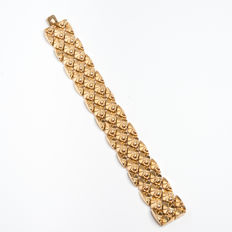 Bracelet in 18 kt gold from 1940/50s. Made in Italy, Vincenza. 18 x 2.2 cm
