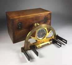 Brass graphometer in walnut box - France - circa 1900