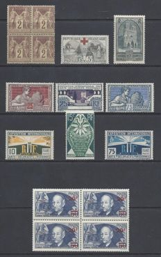 France 1877/1940 - Sage ,Croix Rouge,Clement Ader in a small lot