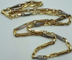 14 Ct Yellow & White  Gold Men's Chain,  length 60cm, Total weight 11.24g