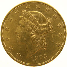 United States - 20 Dollars 1903 'Coronet Head' - gold