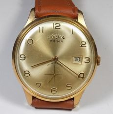 Dogma Prima FHF 70 - Vintage Collectible - Gold Tone - 1950's - Men's Wristwatch
