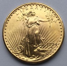 United States – 20 Dollars 1924 'St. Gaudens' Double Eagle – gold
