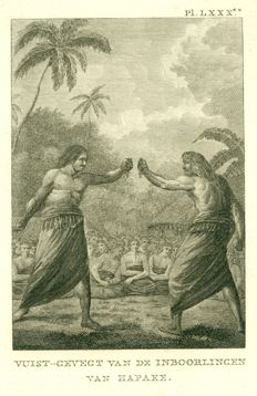 Unknown - Fistfight between two natives of Hapaee - circa 1784