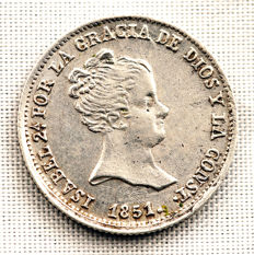 Spain - Isabella II - 1 silver real - 1851 - Seville