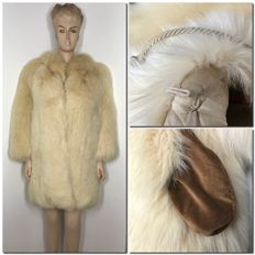 Genuine white fox fur - Made in Italy