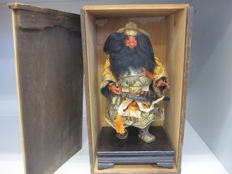 A very large musha ningyo doll of the fierce Shoki  (Zhong Kui) with sword - Japan - 1st half 20th