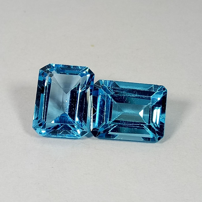 Pair of Swiss Blue Topaz - 6.01 ct