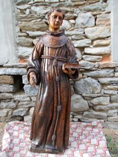 Impressive wooden statue depicting St. Anthony - Italy - 18th century