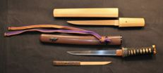Japanese Tanto Dagger in Koshirae and Shirasaya set - Japan - 19th century