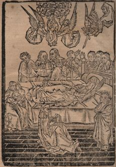 First Antwerp Woodcutter (active 1485-1491 ) : Death of the Virgin - 1487