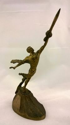 "The bronze figure ""To the stars"" Dedicated to the first space flight of Yuri Gagarin. Made In the USSR."