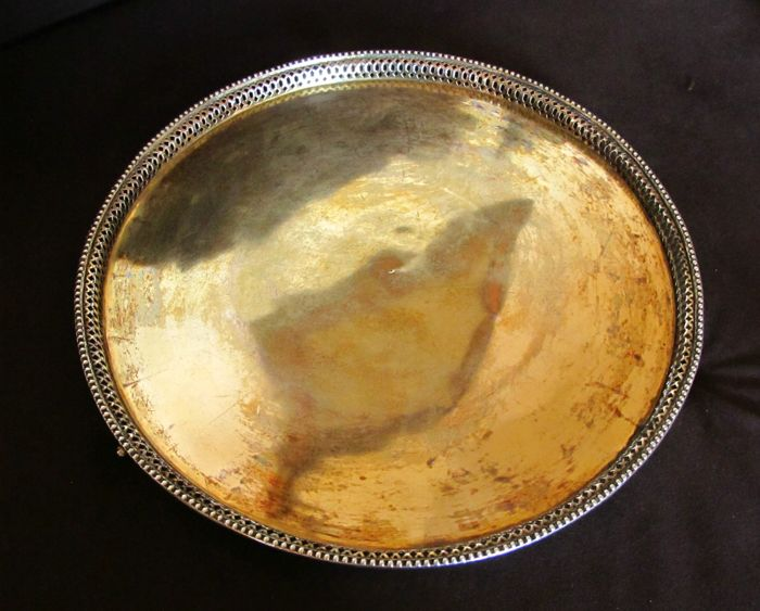 Gold plated silver tray / waiter, Fyodor Fyodorov, Moscow, Russia, 1798
