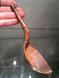 Very beautiful ancient spoon carved in wood - DOGON - Mali