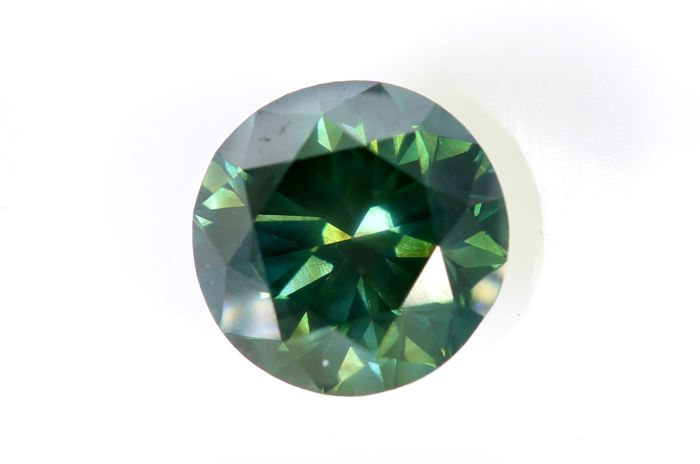 Deep Blueish Green Diamond - 1.61 ct - (Colour Treated) - * NO RESERVE PRICE  *