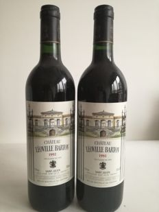 1992 Chateau Leoville Barton, Saint-Julien - 2 bottles (75cl)