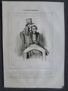 Paul Gavarni (1804-1866) - Grand lot de gravures issues du journal Le Charivari
