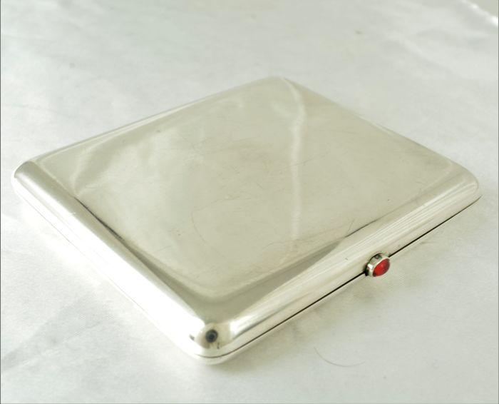 Russian Silver cigarette case, 84, 1908-1917