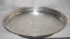 Large serving tray driven and silver plated