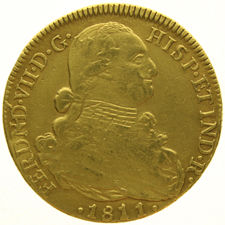 Colombia - 8 Escudos 1811 about 1810 NR-JF Carolus III - gold