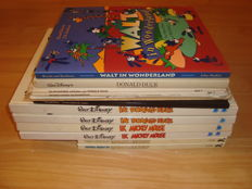 Disney, Walt - 13 publications - including Ik, Donald Duck 1 +2 +  Ik, Mickey Mouse 1 + 2 + Walt in Wonderland - 5xsc/8xhc - 1st edition (1952/1988)