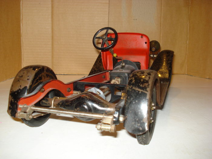 Jouets citro n france length 40 cm tin metal chassis for Lewis motor sales lafayette in
