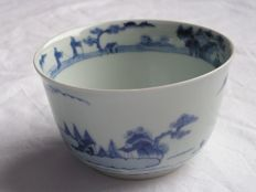 Arita bowl with landscape - Japan - 1770-90 (Mid Edo period)